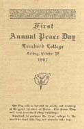 First Annual Peace Day